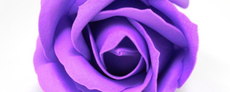 Fleurs de savon roses médiums améthystes