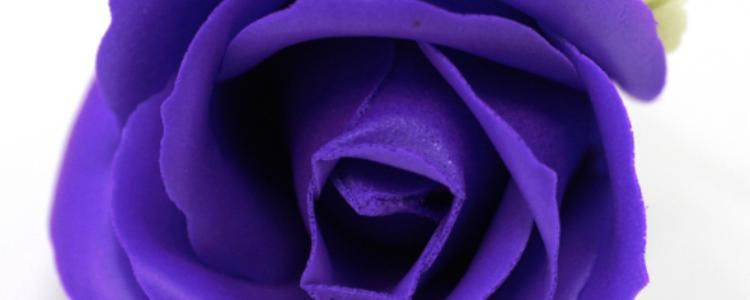 Fleurs de savon roses médiums violettes